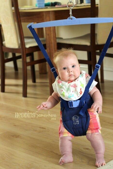 Eva Joy 4 months in the bouncer